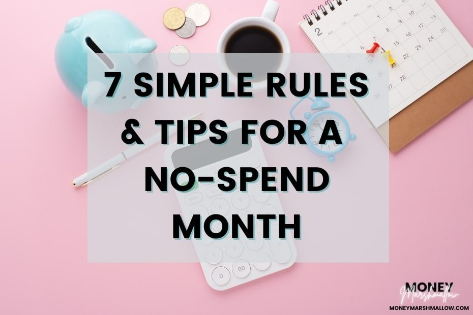 No-spend month rules & tips
